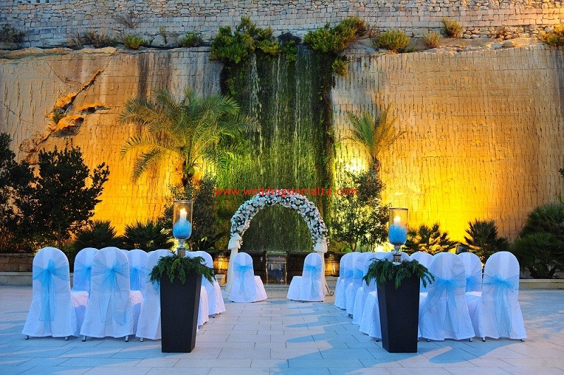 Historic Wedding Venues In Malta Waterfall Gardens